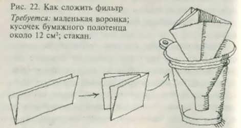 Фильтр из бумаги